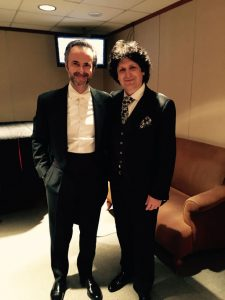 Canizares with maestro David Gimenez