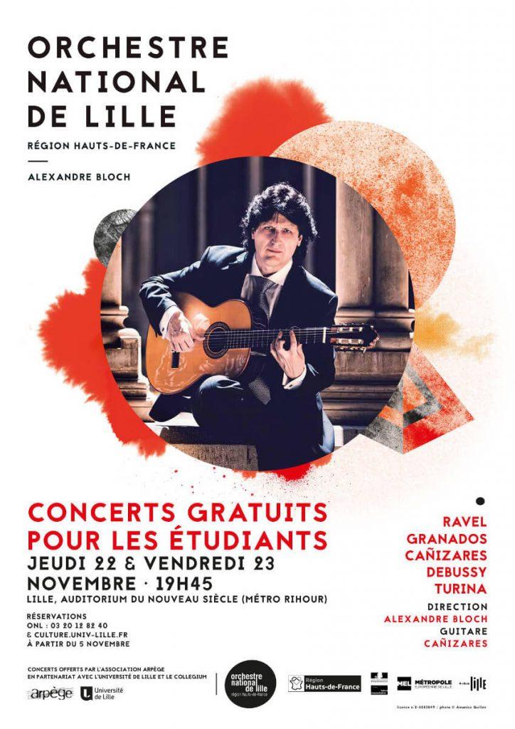 Cartel del Concierto Al-Andalus en Lille