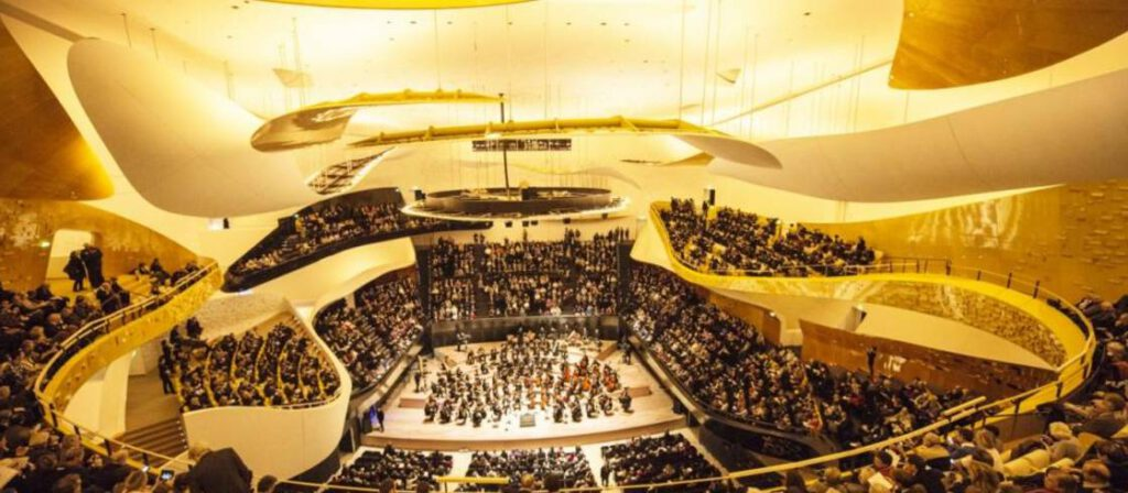 interior del Philharmonie de Paris