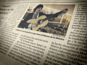 Recortes periódicos Cañizares Guitarra