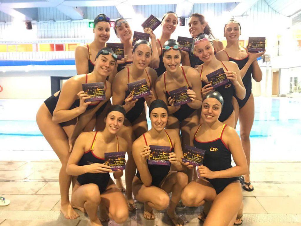 Equipo Nacional de Natación Artística con el CD de Falla por Cañizares