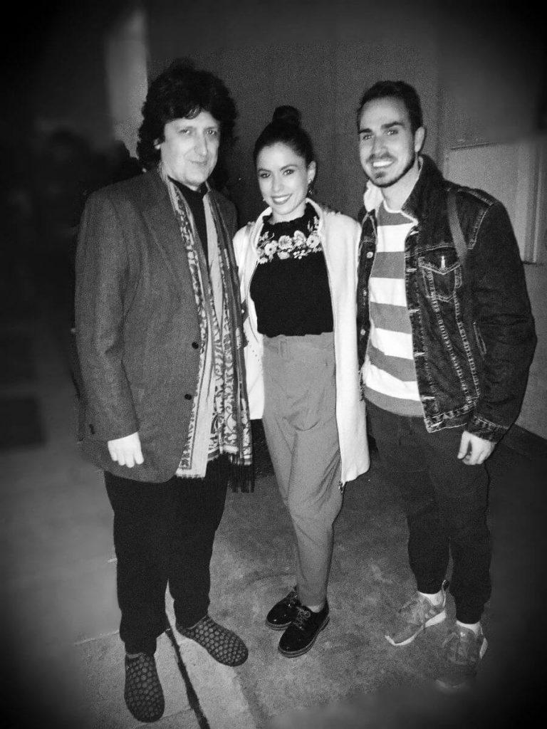 Cañizares con los bailarines Estela Alonso y Adrián Maqueda