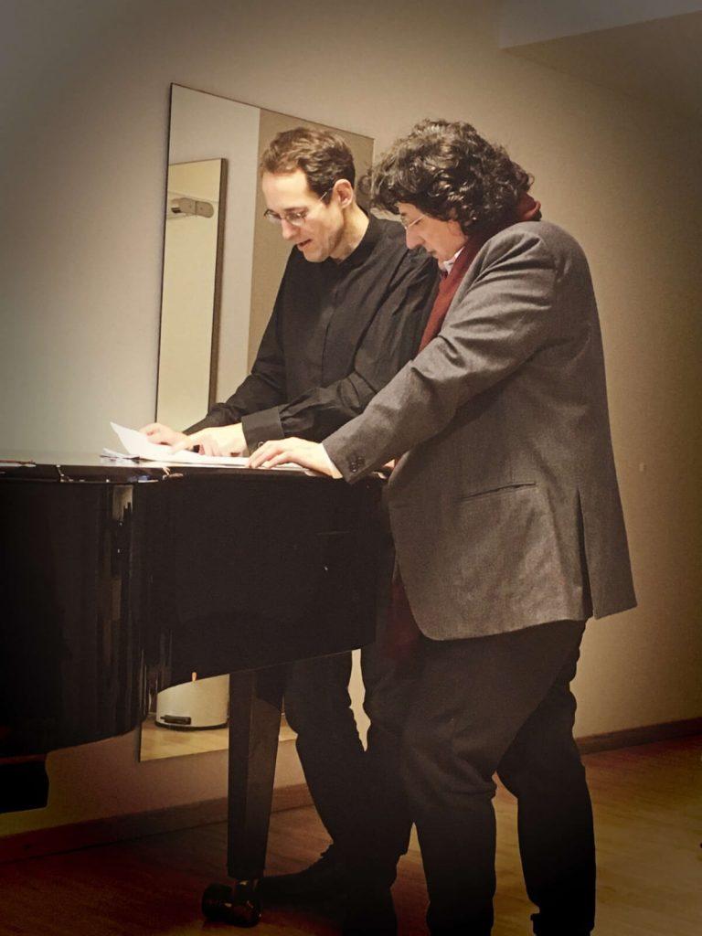 Canizares con el Maestro Pablo González en el camerino