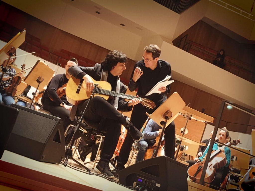 Ensayo con el Maestro Pablo González y la Orquesta Filarmónica de Dresden