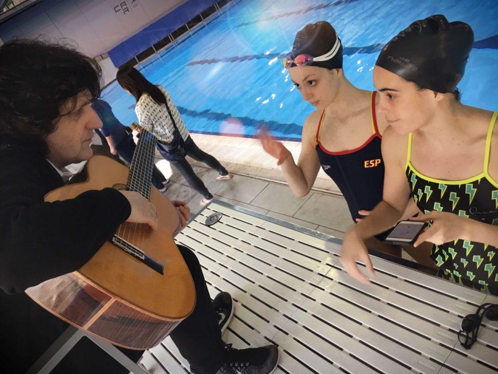 Cañizares con Ona Carbonell y Sara Saldaña