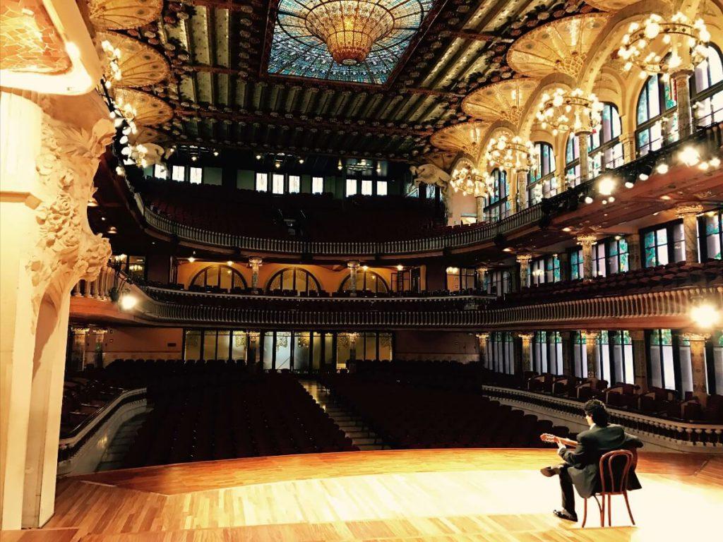 Cañizares en el escenario del Palau de la Música Catalana
