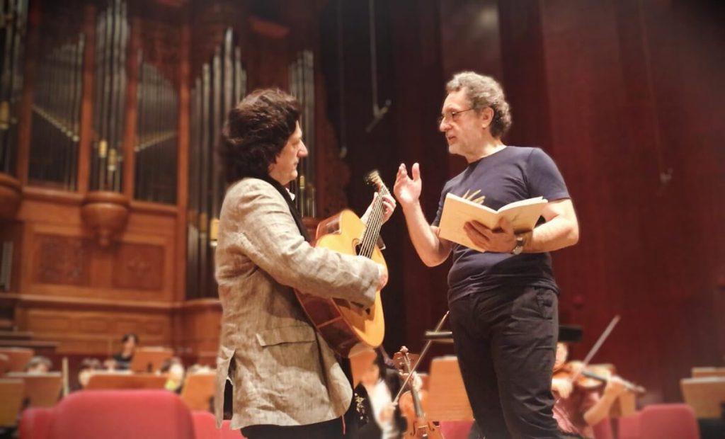 El guitarrista Cañizares y el Maestro Josep Pons