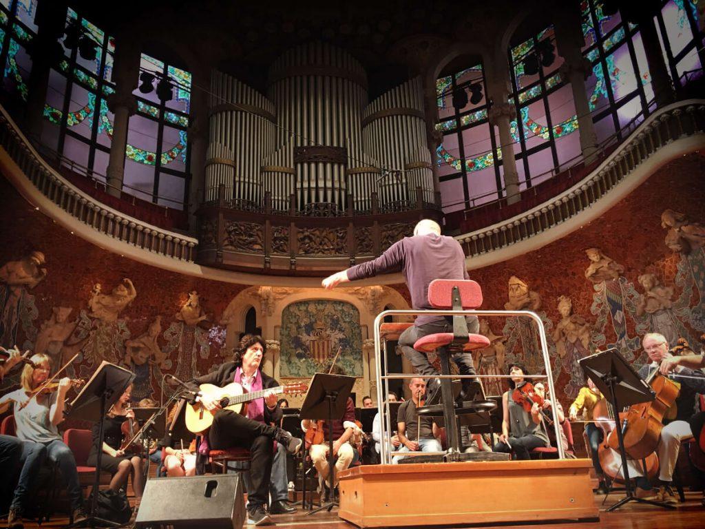 Ensayo en el Palau de Música Catalana