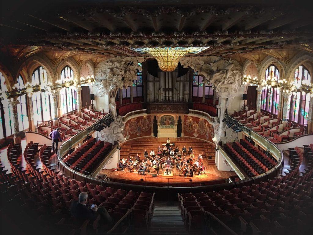 Vista del interior del Palau de la Música Catalana