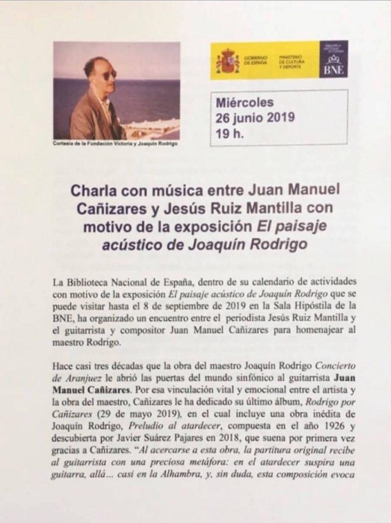 Programa del estreno absoluto de la obra inédita de Rodrigo