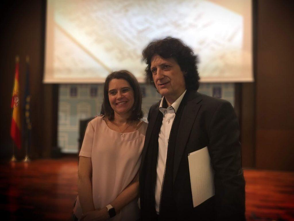 Cañizares con doña Cecilia León Rodrigo