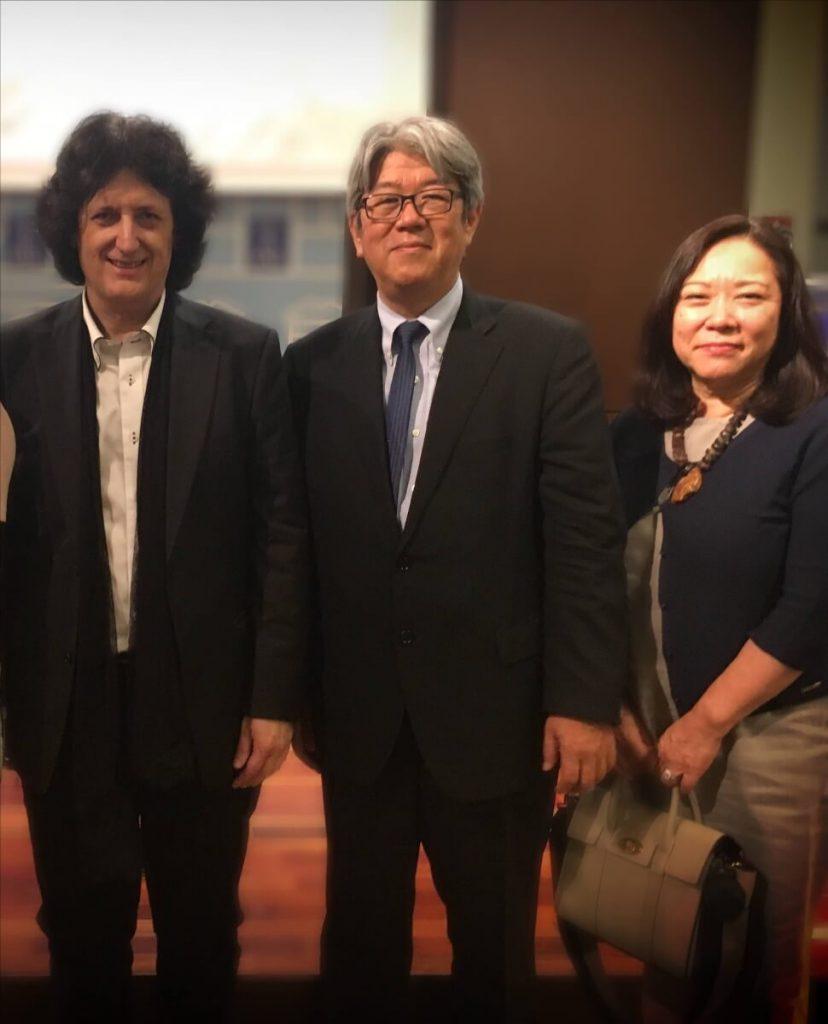 El Embajador de Japón Sr. Mizukami y su señora