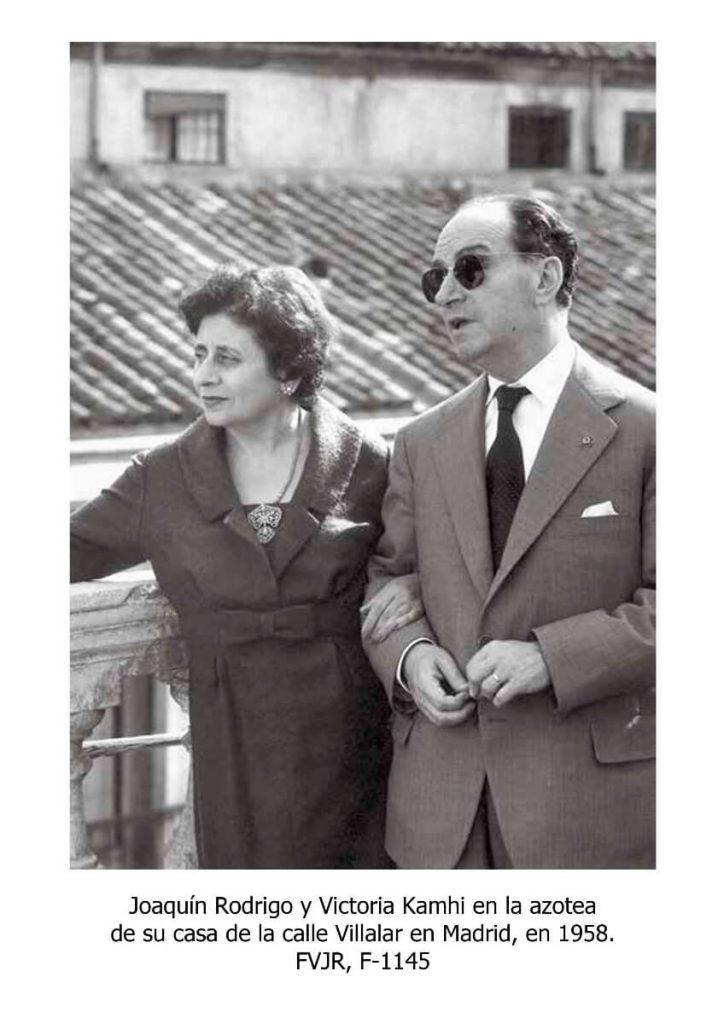 Maestro Joaquín Rodrigo con su señora Victoria Kamhi