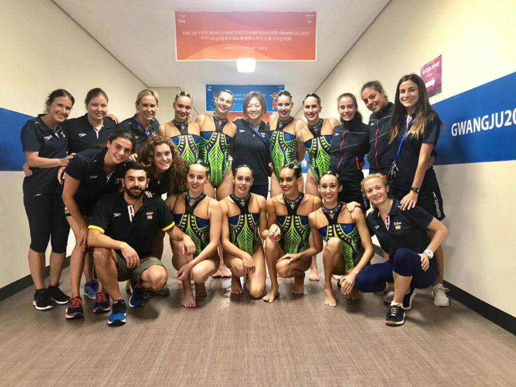 Las nadadoras y staff del Equipo Nacional