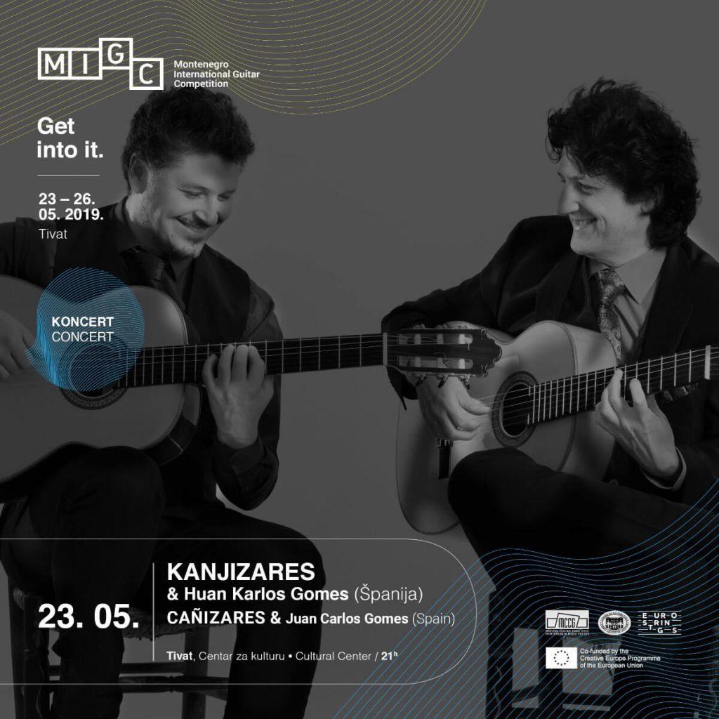 Cartel del concierto de Tivat (Montenegro) - Duo de Guitarra