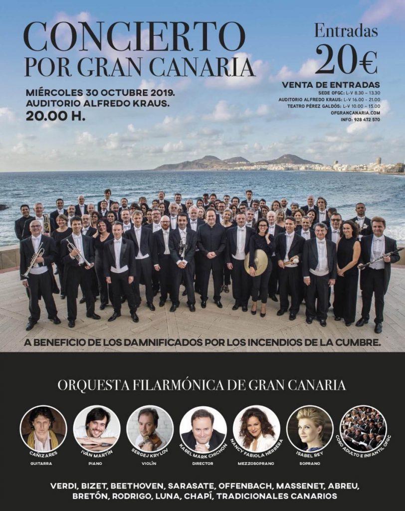 Cartel Concierto benefico por Gran Canaria