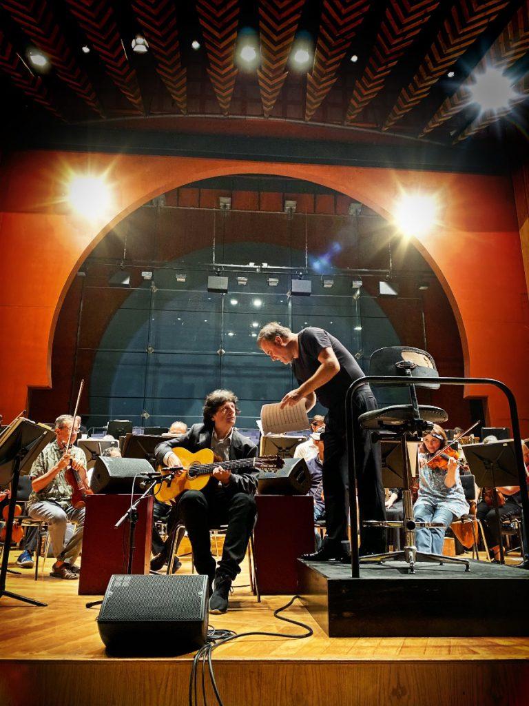 Ensayo de Cañizares con la Orquesta Filarmónica de Gran Canaria