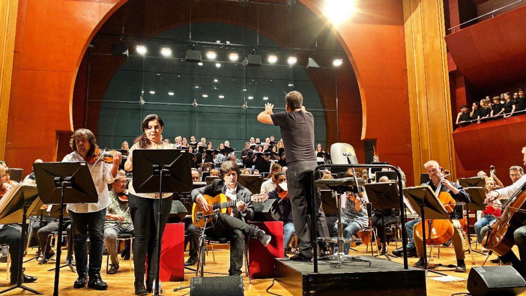 Ensayo Cañizares y solistas invitados por la Orquesta Filarmónica de Gran Canaria