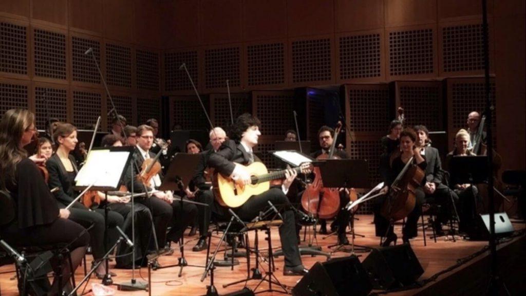 El compositor Cañizares con el Maestro Thomas Gabrish